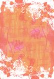Abstracte hand geschilderde waterverfachtergrond Decoratieve chaotische kleurrijke textuur voor ontwerp Hand getrokken beeld op p Stock Foto's