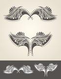 Abstracte hand getrokken vleugels Royalty-vrije Stock Foto's