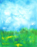 Abstracte hand getrokken waterverfachtergrond Stock Afbeeldingen