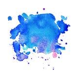 Abstracte hand getrokken waterverfachtergrond Stock Foto