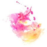 Abstracte hand getrokken waterverfachtergrond, vectorillustratie, s Royalty-vrije Stock Foto
