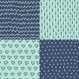 Abstracte handdrawn naadloze geplaatste patronen De eenvoudige textuur en de hand getrokken elementen voor uw ontwerpen kleden zi Royalty-vrije Stock Fotografie
