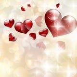 Abstracte hart bokeh heldere achtergrond. EPS 10 Stock Fotografie