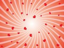 Abstracte hartachtergrond stock illustratie