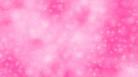 Abstracte Harten, Fonkelingen en Bellen op Roze Achtergrond stock illustratie