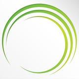 Abstracte heldere achtergrond met cirkels en groene lijnen Royalty-vrije Stock Foto