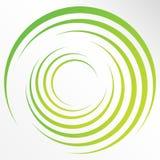 Abstracte heldere achtergrond met cirkels en groene lijnen Royalty-vrije Stock Afbeeldingen