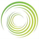 Abstracte heldere achtergrond met cirkels en groene lijnen Royalty-vrije Stock Fotografie