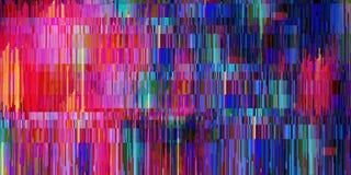 Abstracte heldere achtergrond van vele elementen Glitch effect royalty-vrije illustratie