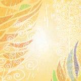 Abstracte heldere beige bloemenachtergrond Royalty-vrije Stock Afbeeldingen