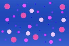 Abstracte heldere blauwe document achtergrond met cirkels van lilac en purpere tint vector illustratie