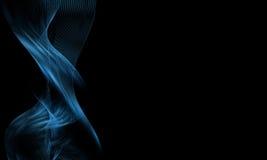 Abstracte Heldere Blauwe Golven Royalty-vrije Stock Foto