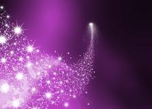 Abstracte Heldere Dalende Ster met Violet Background vector illustratie