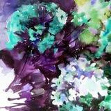 Abstracte heldere gekleurde decoratieve achtergrond Bloemen met de hand gemaakt patroon Mooi teder romantisch boeket van floxbloe Royalty-vrije Stock Afbeelding