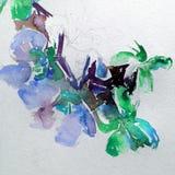 Abstracte heldere gekleurde decoratieve achtergrond Bloemen met de hand gemaakt patroon Mooi teder romantisch boeket van orchidee stock illustratie