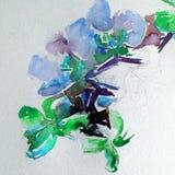 Abstracte heldere gekleurde decoratieve achtergrond Bloemen met de hand gemaakt patroon Mooi teder romantisch boeket van orchidee royalty-vrije illustratie