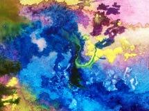 Abstracte heldere gekleurde decoratieve achtergrond Bloemen met de hand gemaakt patroon Mooi teder romantisch boeket van wildflow stock illustratie