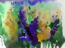 Abstracte heldere gekleurde decoratieve achtergrond Bloemen met de hand gemaakt patroon Mooi teder romantisch boeket van wildflow royalty-vrije illustratie