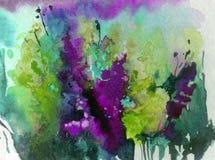 Abstracte heldere gekleurde decoratieve achtergrond Bloemen met de hand gemaakt patroon Mooi teder romantisch boeket van wildflow vector illustratie