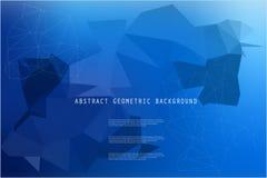 Abstracte heldere geometrische veelhoekige achtergrond Stock Afbeeldingen