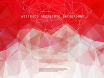 Abstracte heldere geometrische veelhoekige achtergrond Royalty-vrije Stock Fotografie