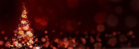 Abstracte Heldere Kerstboom Stock Foto's