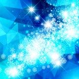 Abstracte Heldere Kerstmisachtergrond Stock Foto