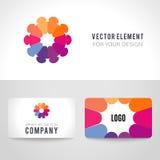 Abstracte heldere kleurrijke mededeling logotype Stock Fotografie