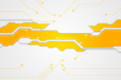 Abstracte heldere oranje technologieachtergrond Stock Foto's