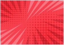 Abstracte heldere rode gestreepte retro grappige achtergrond royalty-vrije illustratie