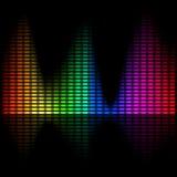 Abstracte heldere spectrale grafiek Stock Afbeelding