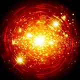 Abstracte heldere sterachtergrond Stock Afbeeldingen