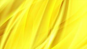 Abstracte heldere stromende gele golven videoanimatie