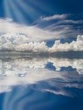 Abstracte hemel met bezinning Royalty-vrije Stock Afbeelding