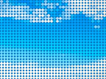 Abstracte hemel om tegelachtergrond Royalty-vrije Stock Fotografie