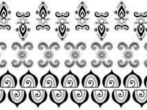 Abstracte hennagrenzen Stock Foto's