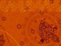Abstracte hennaPaisley achtergrond Royalty-vrije Stock Fotografie