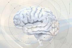 Abstracte hersenenachtergrond vector illustratie