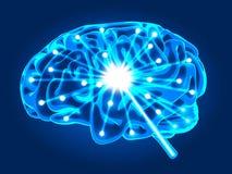 Abstracte hersenenactiviteit royalty-vrije illustratie