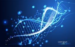 Abstracte het conceptendna van de technologiewetenschap futuristisch op hallo technologie-bl Royalty-vrije Stock Foto's