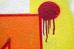 Abstracte het druipen graffiti Stock Afbeelding
