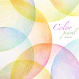 Abstracte het gekrabbelachtergrond van het kleurenpotlood Stock Foto