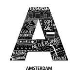 Abstracte het gezichtskaart van Amsterdam Stock Foto