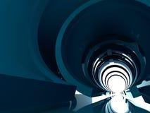 Abstracte het glanzen tunnel binnenlandse 3d geeft terug Stock Fotografie