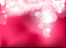 Abstracte het gloeien roze lichten royalty-vrije illustratie