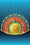Abstracte het gokken achtergrond met roulette Royalty-vrije Stock Afbeeldingen
