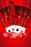 Abstracte het gokken illustratie Royalty-vrije Stock Afbeeldingen