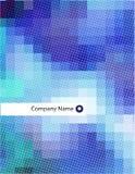 Abstracte het ontwerpspatie van het briefhoofd Stock Foto