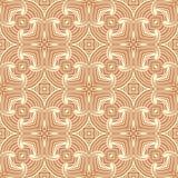 Abstracte het patroon van krommelijnen naadloze illustratie als achtergrond in zwart-wit in roodachtige bruine basis royalty-vrije illustratie
