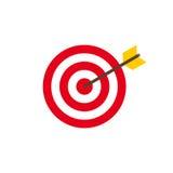 Abstracte het pictogramillustratie van het doel vlakke ontwerp stock illustratie